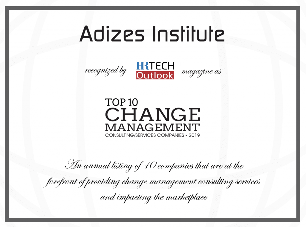 Adizes in Top 10 Change Management Consulting Companies